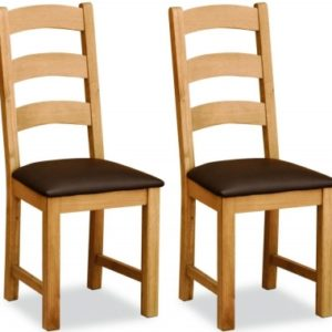 Bergerac Petite Oak dining chair-0