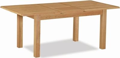 Bergerac Petite Oak small extending table-0