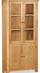 Bergerac Oak display cabinet-0