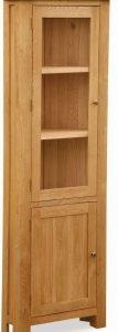 Bergerac Oak corner display cabinet-0