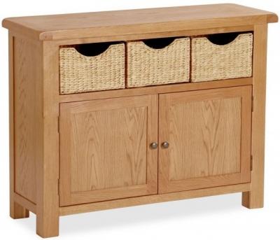 Bergerac Oak sideboard with baskets-0