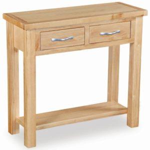 Trinity Petite Oak console table-0