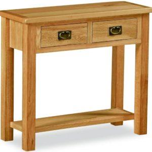 Bergerac Petite Oak console table-0