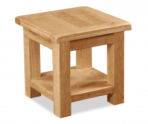 Bergerac Oak lamp table-0