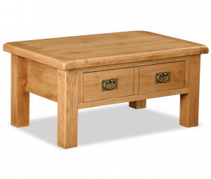 Bergerac Oak coffee table with drawer-0