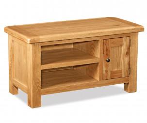 Bergerac Oak small TV unit-0