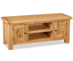 Bergerac Oak large TV unit-0