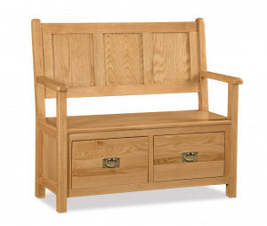 Bergerac Oak monks bench-0