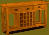 Bergerac Oak wine rack sideboard-0