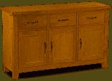 Trinity Petite Oak large sideboard-0