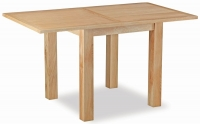 Trinity Petite Oak square extending dining table-0