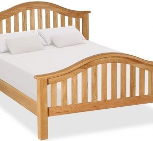 Bergerac Oak curved bedframe-0
