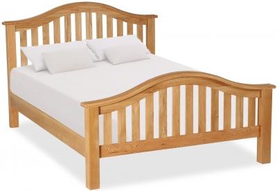Bergerac Oak curved bedframe-0