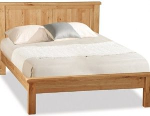 Bergerac Oak panelled bedframe-0