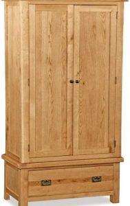 Bergerac Oak gents wardrobe-0