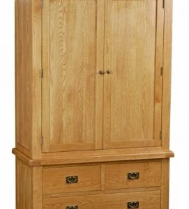 Bergerac Oak gents 3 drawer wardrobe-0