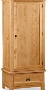 Bergerac Oak single wardrobe-0