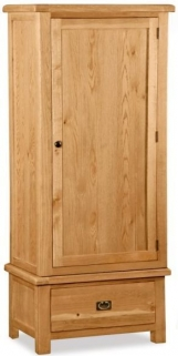 Bergerac Oak single wardrobe-0