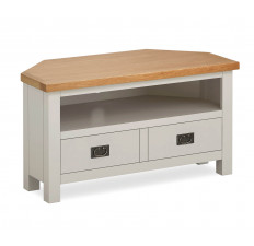 Devon Oak corner TV unit-0