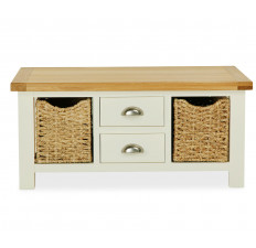 Suffolk Painted large coffee table with baskets-0