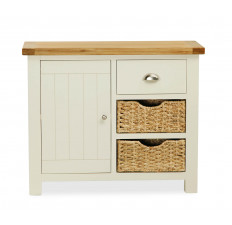 Suffolk Painted small sideboard with baskets-0