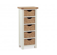 Suffolk Painted tallboy with baskets-0
