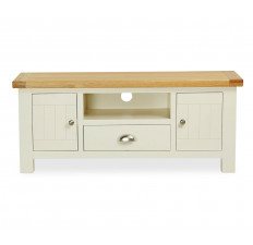Suffolk Painted large TV unit with drawer-0