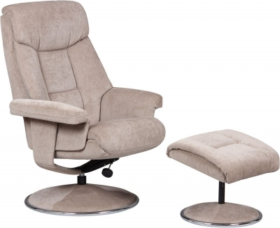 Biarritz fabric recliner with FREE stool-3777
