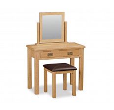 Bergerac Petite Oak dressing table set-0