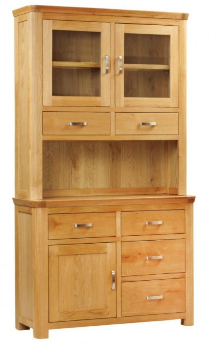 Treviso Oak small buffet hutch-0