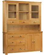 Treviso Oak large buffet hutch-0
