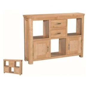 Treviso Oak low display unit-0