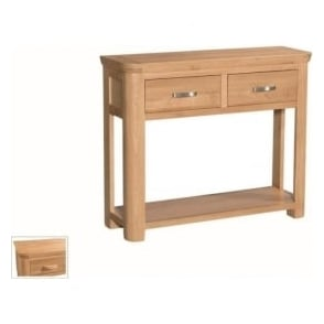 Treviso Oak large console table-0