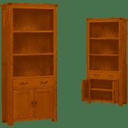 Treviso Oak tall bookcase-0