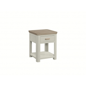 Treviso Painted end table with drawer-0