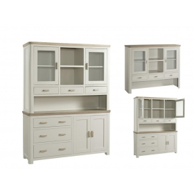 Treviso Painted large buffet hutch-0