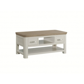 Treviso Painted standard coffee table with drawers-0