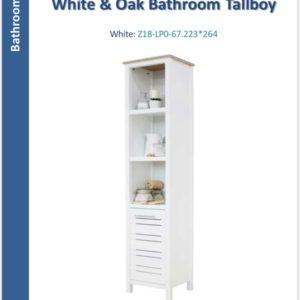White Bathroom storage unit-0