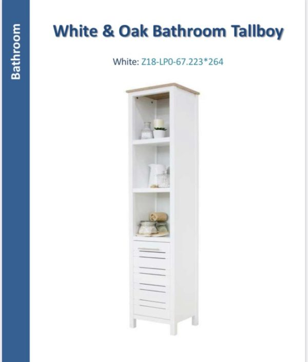 White Bathroom storage unit-0