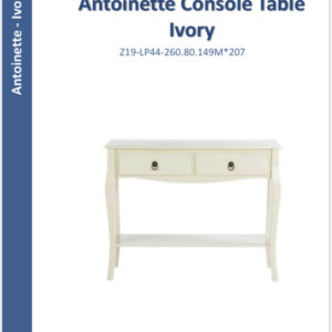 Antoinette console table ivory-0