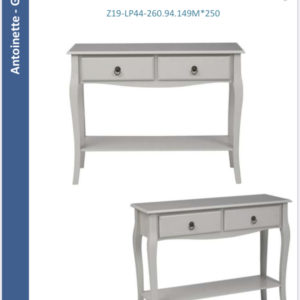 Antoinette console table grey-0