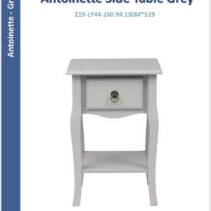 Antoinette PAIR side tables grey-0