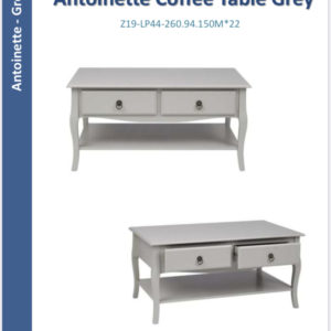 Antoinette coffee table grey-0
